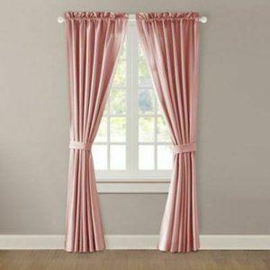 NEW Alcove 4 Piece Window Curtain Peach